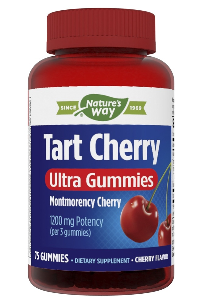 Enzymatic Therapy - Tart Cherries Ultra Gummies Cherry 1200 mg. - 75 Gummies