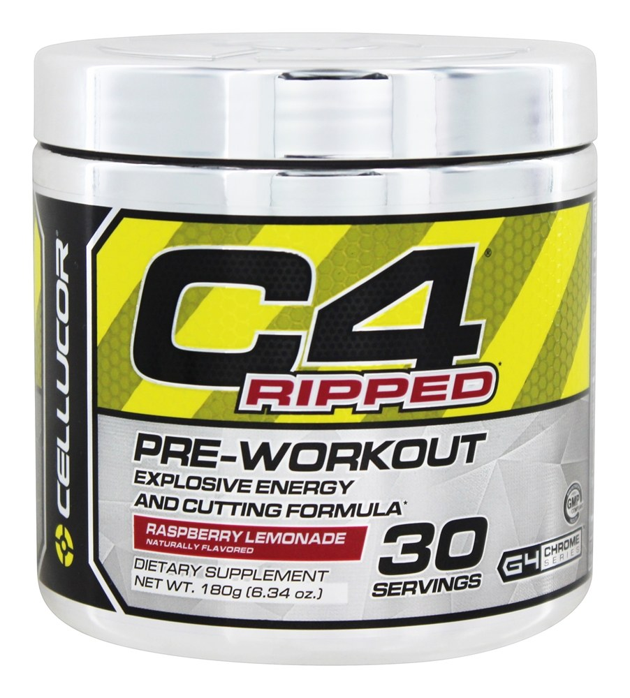 Cellucor - C4 Ripped Pre-Workout Explosive Energy and Cutting Formula Raspberry Lemonade 30 Servings - 180 Grams