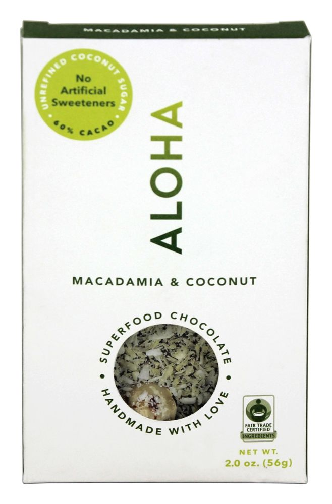 Aloha - Superfood Chocolate Bar Macadamia and Coconut - 2 oz.