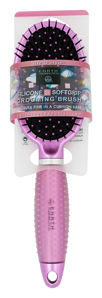Earth Therapeutics - Silicone Si Softgrip Grooming Brush Pink