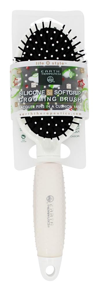 Earth Therapeutics - Silicone Si Softgrip Grooming Brush White