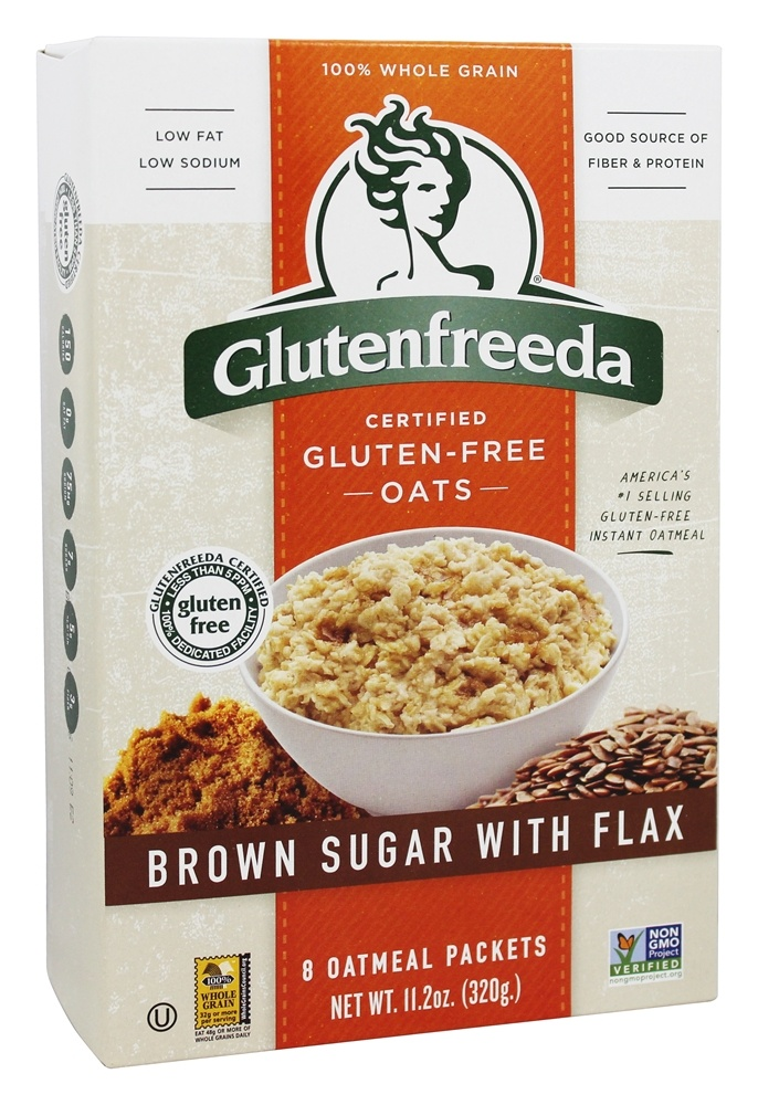 Glutenfreeda - Instant Oatmeal Brown Sugar with Flax - 8 Packet(s)
