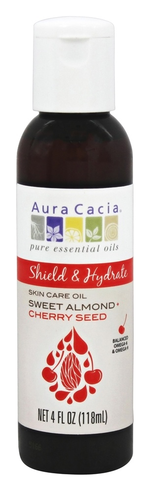 Aura Cacia - Sweet Almond Plus Cherry Seed Skin Care Oil - 4 oz.