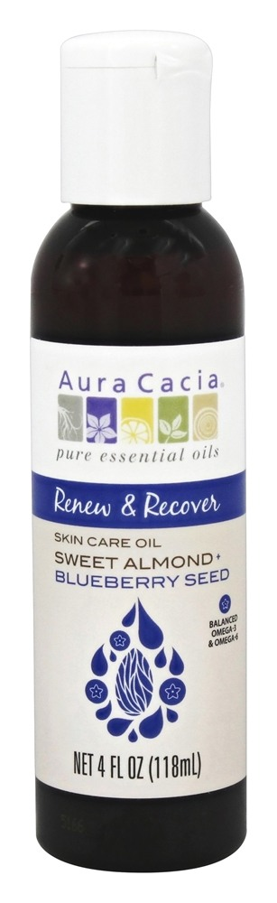 Aura Cacia - Sweet Almond Plus Blueberry Seed Skin Care Oil - 4 oz.