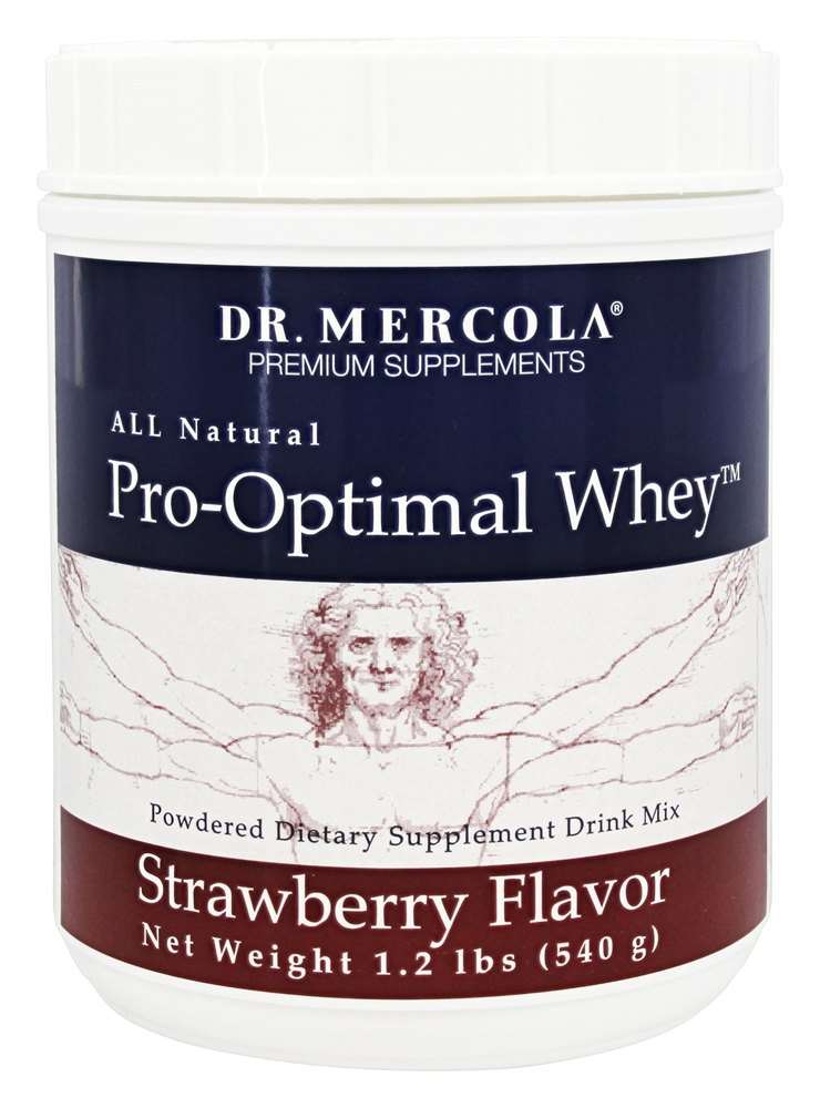 Dr. Mercola Premium Products - Pro-Optimal Whey All Natural Strawberry - 1.2 lbs.