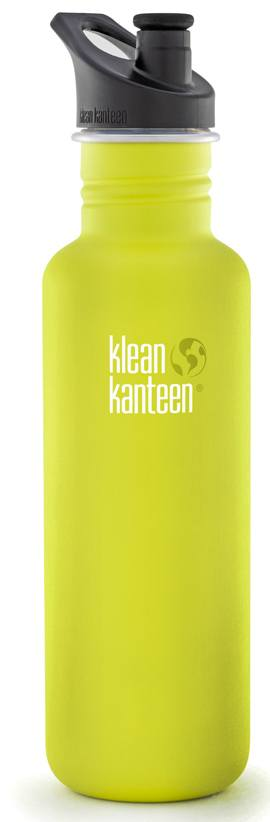 Klean Kanteen - Stainless Steel Water Bottle Classic with Sport Cap 3.0 Lime Pop - 27 oz.