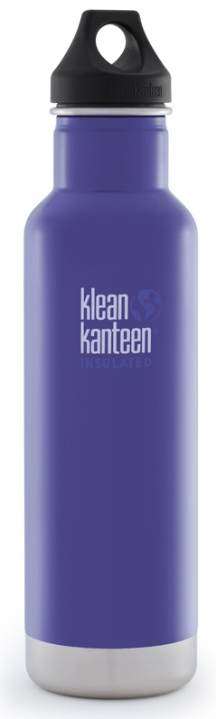 Klean Kanteen - Stainless Steel Water Bottle Classic with Stainless Loop Cap Blooming Iris - 20 oz.