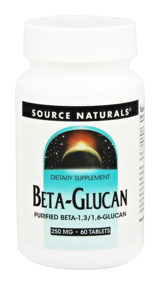 Source Naturals - Beta Glucan 250 mg. - 60 Tablets