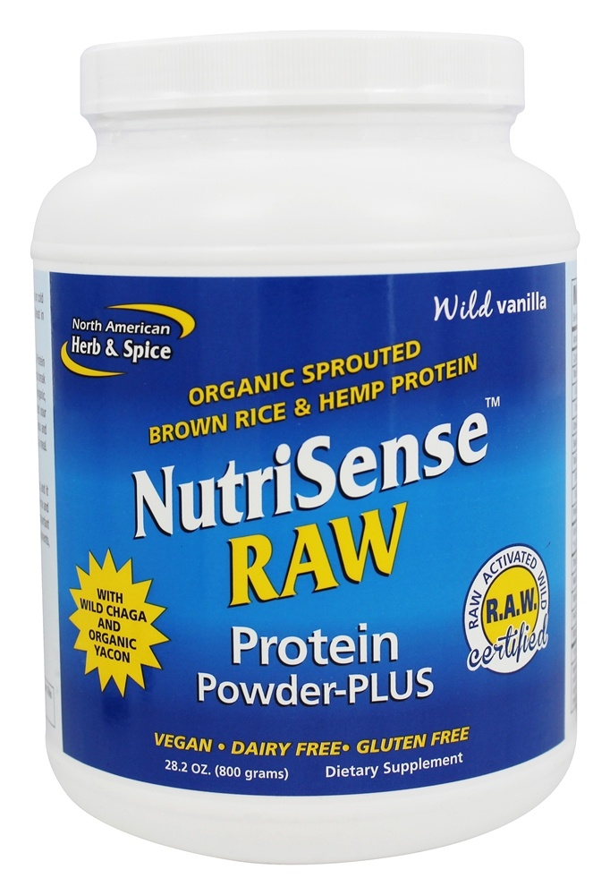 North American Herb & Spice - NutriSense Raw Protein Powder Plus Wild Vanilla - 28.2 oz.