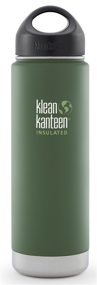 Klean Kanteen - Stainless Steel Water Bottle Wide Insulated with Stainless Loop Cap Vineyard Green - 20 oz.