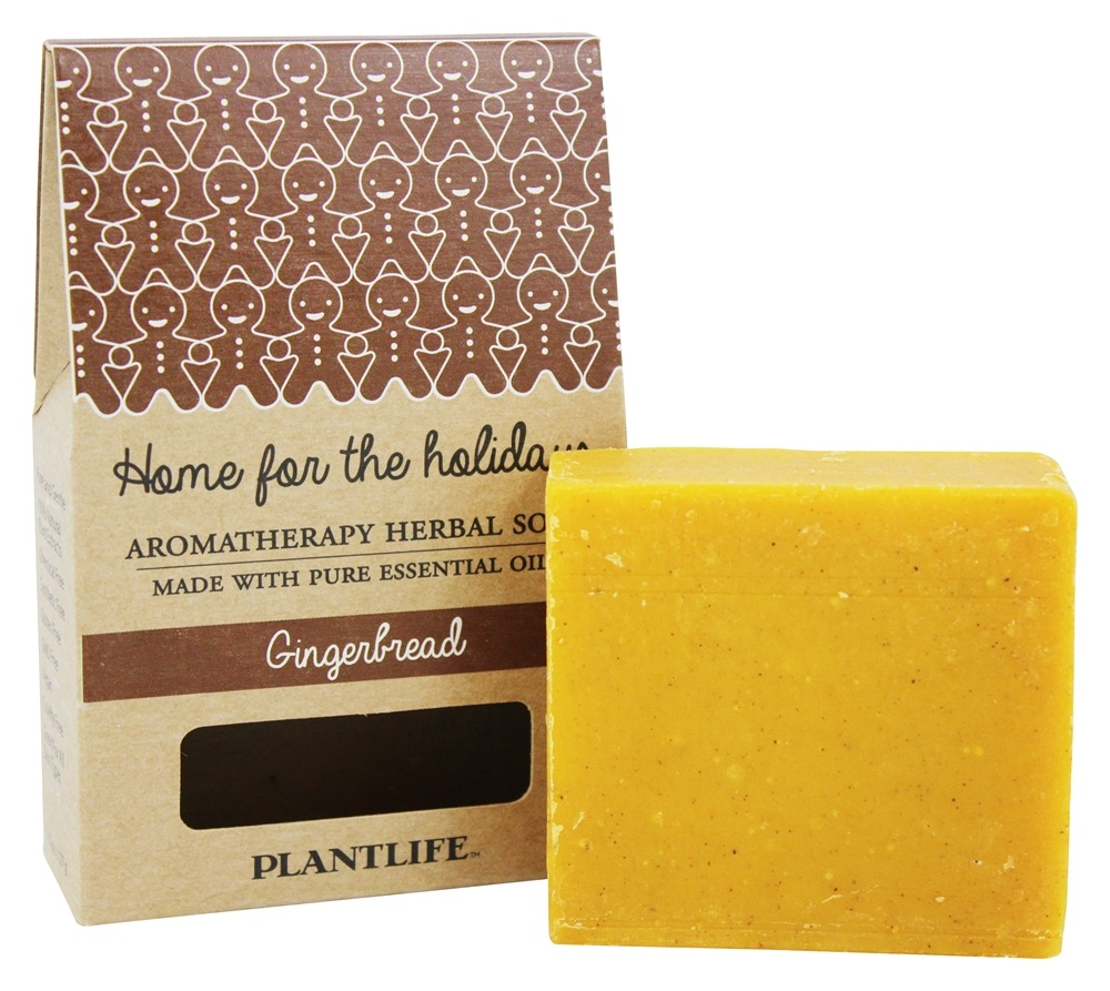 Plantlife Natural Body Care - Aromatherapy Herbal Bar Soap Gingerbread - 4.5 oz.