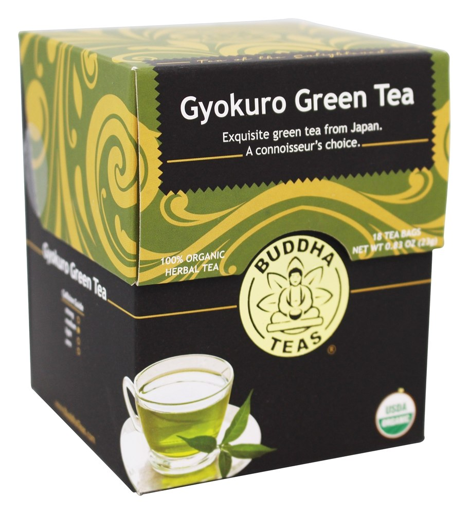 Buddha Teas - 100% Organic Herbal Gyokuro Green Tea - 18 Tea Bags
