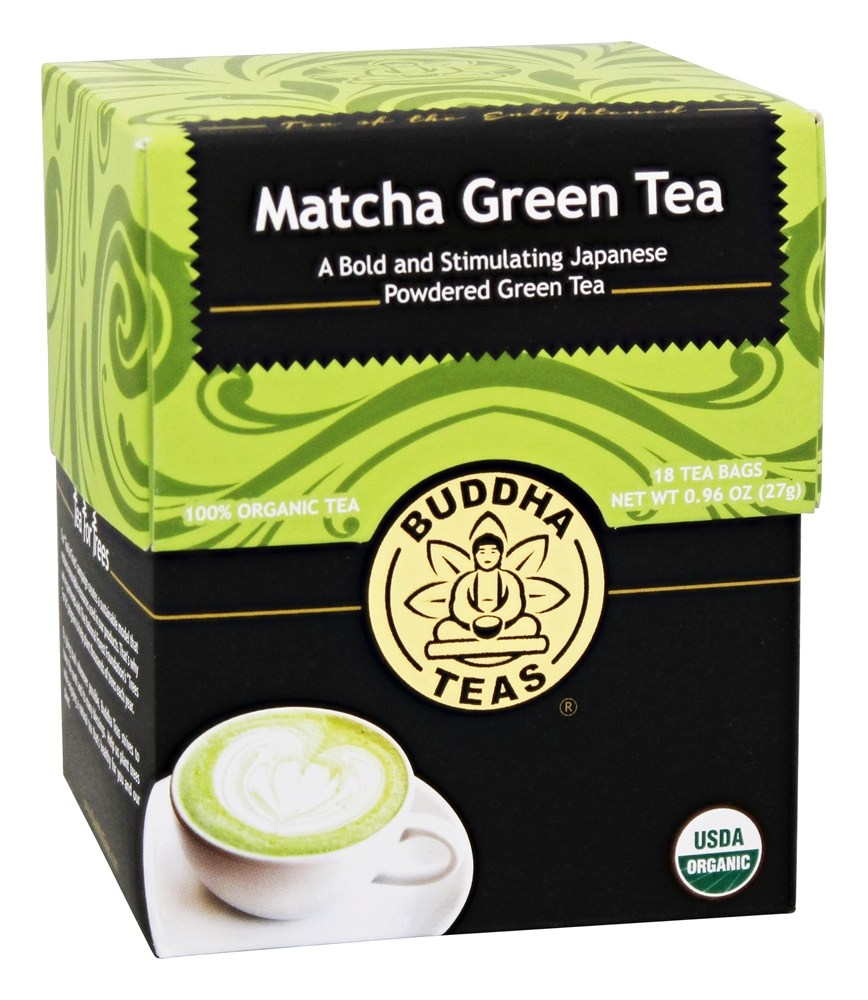 Buddha Teas - 100% Organic Herbal Matcha Green Tea - 18 Tea Bags