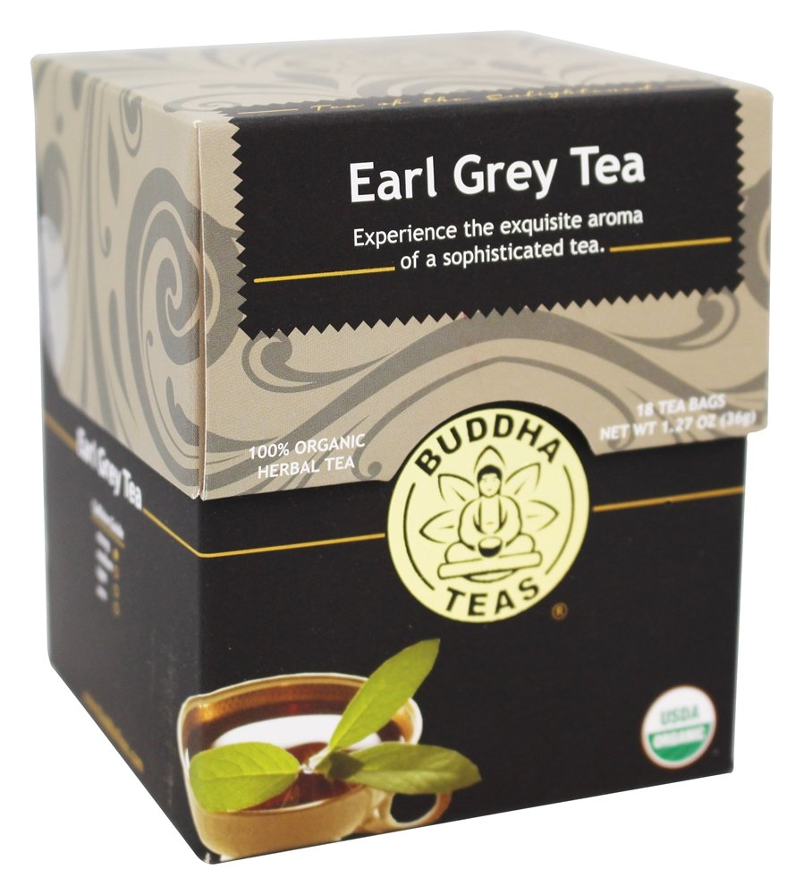 Buddha Teas - 100% Organic Herbal Earl Grey Tea - 18 Tea Bags