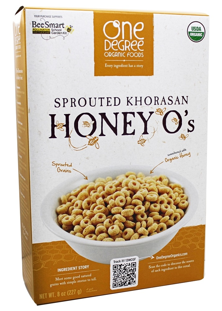 One Degree Organic Foods - Sprouted Khorasan Honey O's - 8 oz.