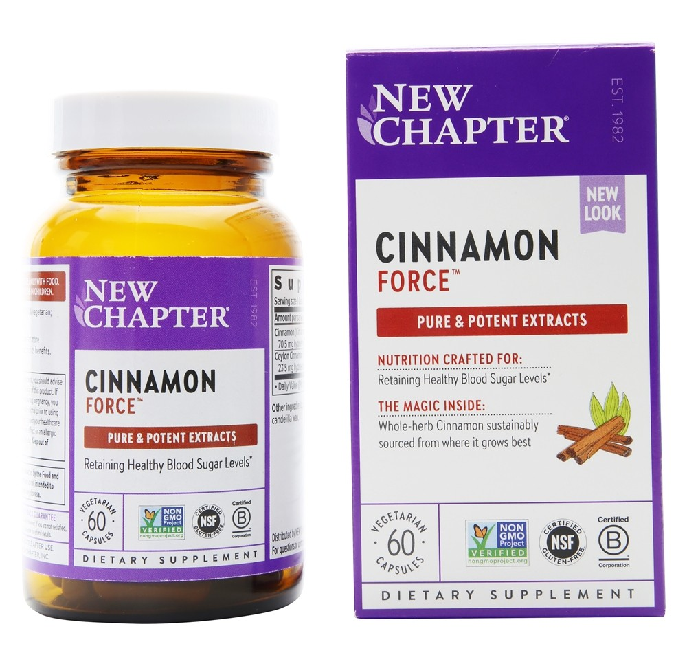 New Chapter - Cinnamon Force - 60 Vegetarian Capsules