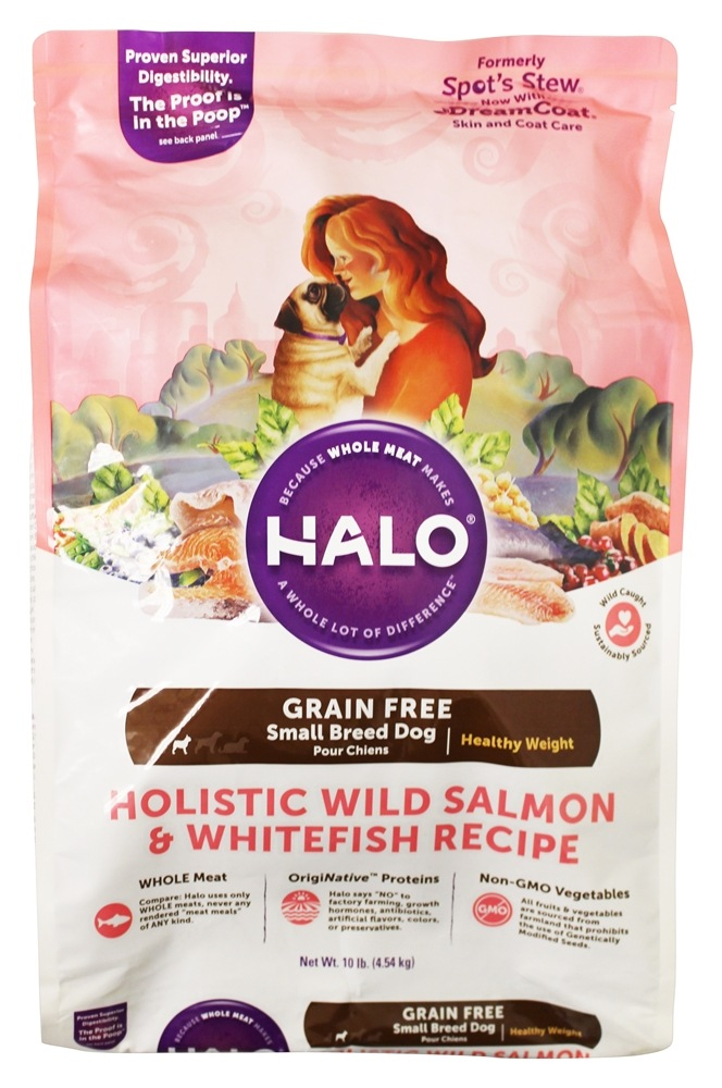 Halo Purely for Pets - Spot's Stew Healthy Weight Small Breed Dog Grain-Free Whitefish and Salmon - 10 lb.