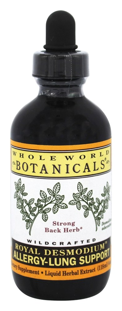 Whole World Botanicals - Royal Desmodium Allergy-Lung Support - 4 oz.