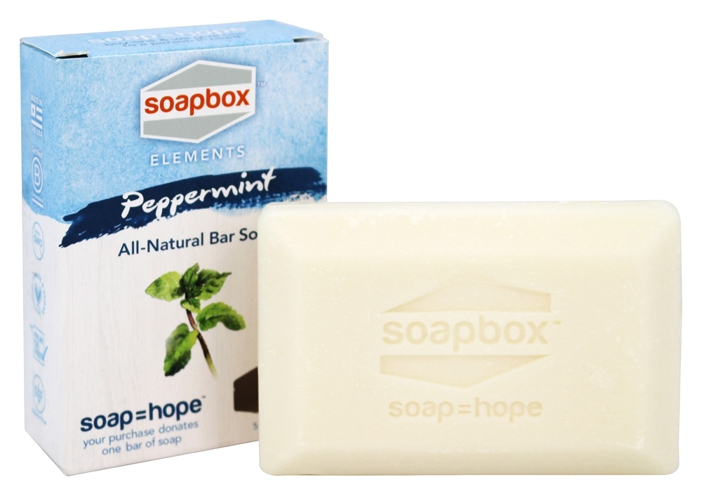 Soapbox Soaps - All Natural Bar Soap Peppermint - 5 oz.