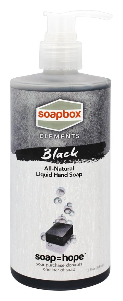 Soapbox Soaps - All Natural Liquid Hand Soap Black - 12 oz.