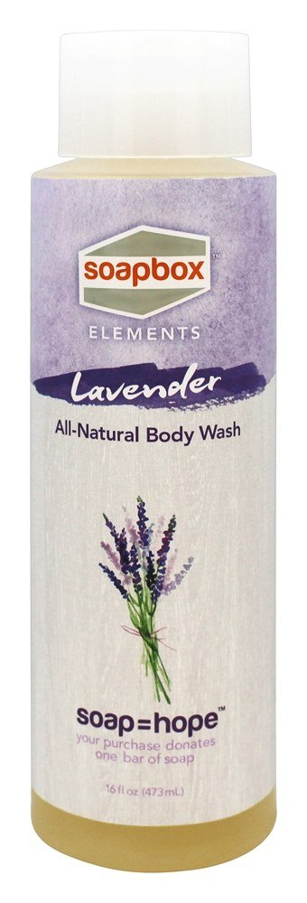 Soapbox Soaps - All Natural Body Wash Lavender - 16 oz.