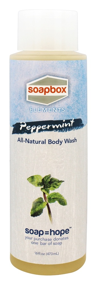 Soapbox Soaps - All Natural Body Wash Peppermint - 16 oz.