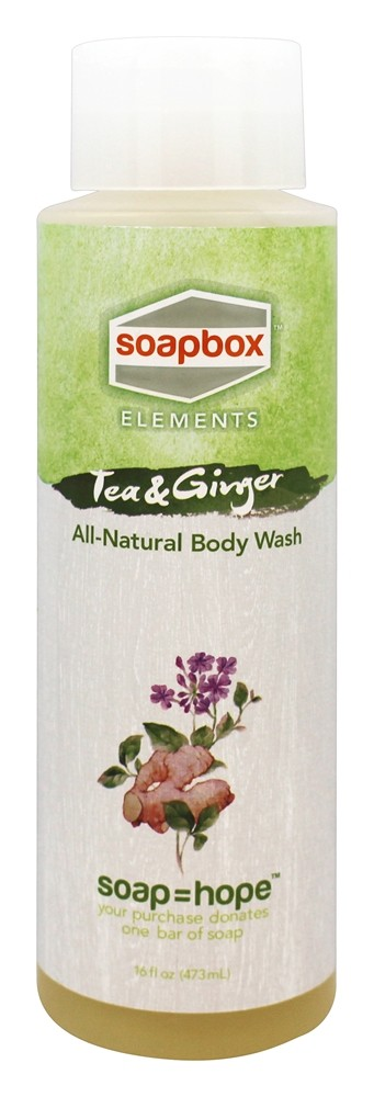 Soapbox Soaps - All Natural Body Wash Tea and Ginger - 16 oz.