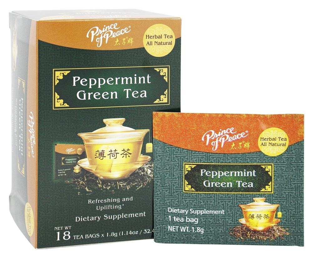 Prince of Peace - All Natural Peppermint Green Tea - 18 Tea Bags