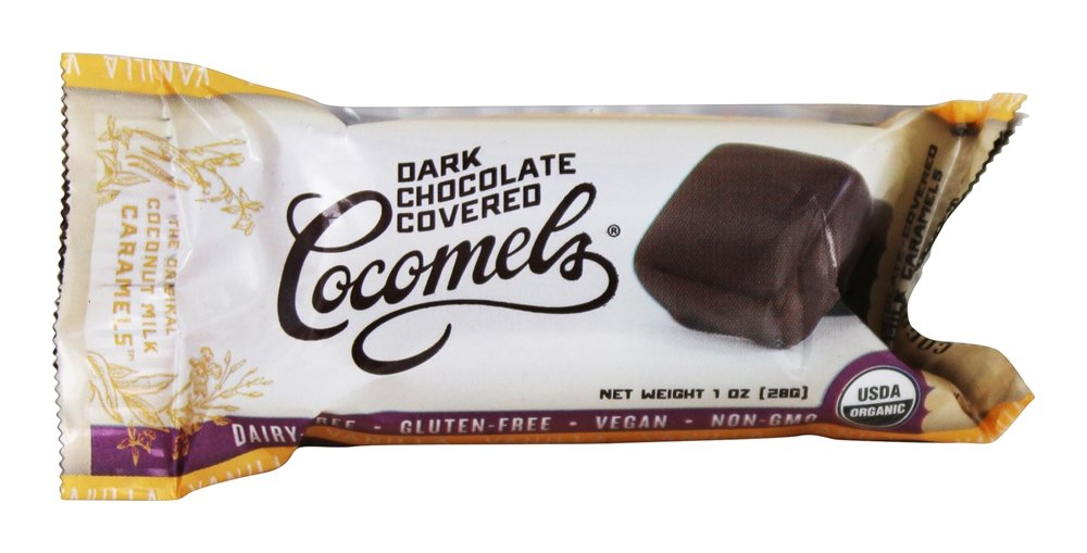 JJ's Sweets Cocomels - Dark Chocolate Covered Cocomels Vanilla - 1 oz.