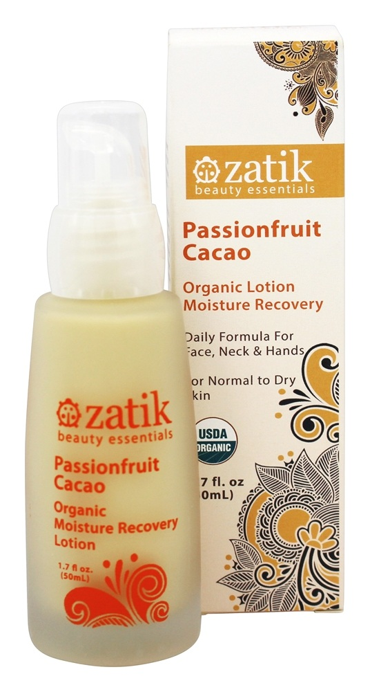 Zatik Beauty Essentials - Passionfruit Cacao Organic Lotion Moisture Recovery - 1.7 oz.