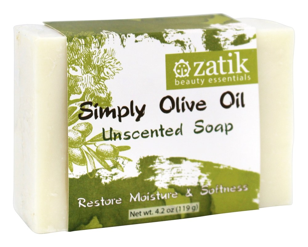 Zatik Beauty Essentials - Simply Olive Oil Bar Soap Unscented - 4.2 oz.