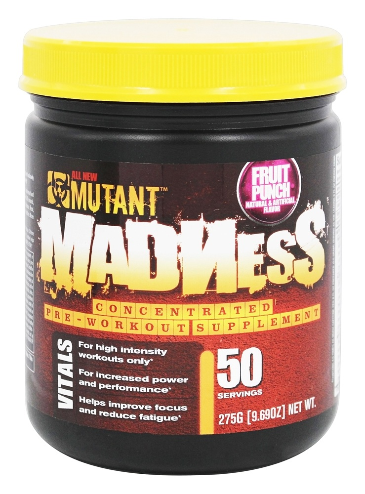 Mutant - Madness Concentrated Pre-Workout Supplement Fruit Punch - 9.69 oz.