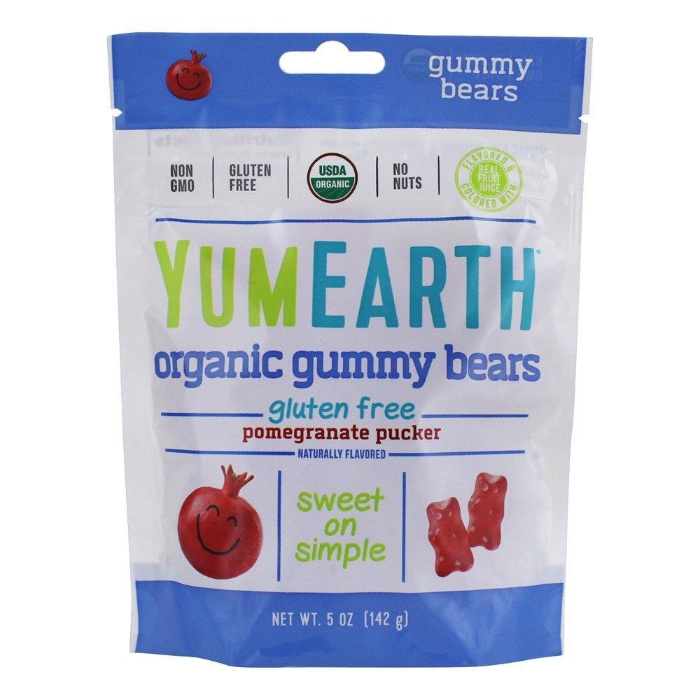 Yum Earth - Gluten Free Gummy Bears Pomegranate - 5 oz.