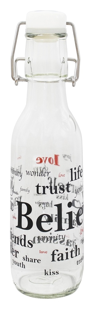 Love Bottle - Glass Water Bottle Believe - 500 ml.