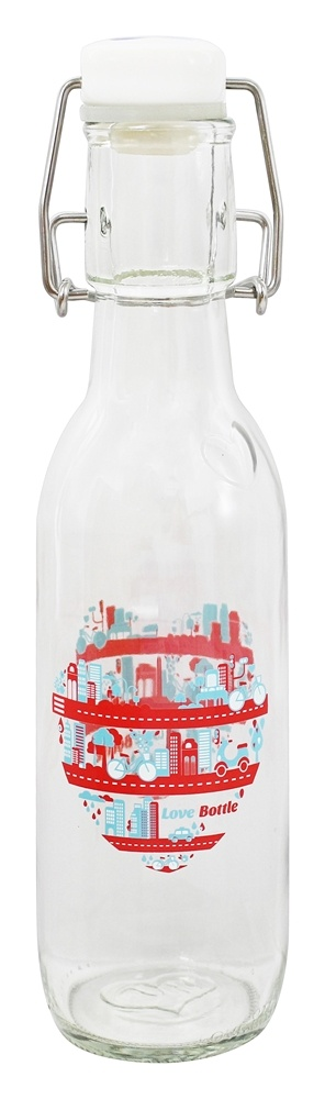 Love Bottle - Glass Water Bottle Big City Living - 500 ml.