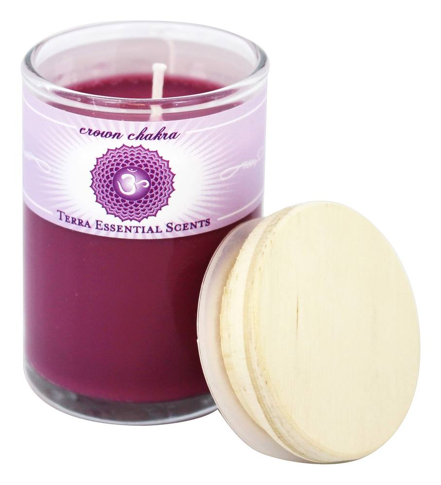 Terra Essential Scents - Crown Chakra Soy Candle - 2.5 oz.