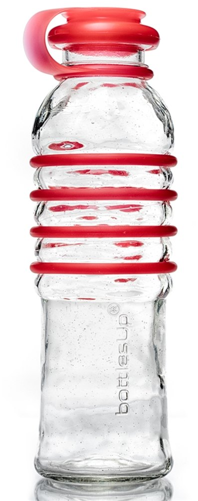 BottlesUp - Glass Water Bottle Red - 22 oz.