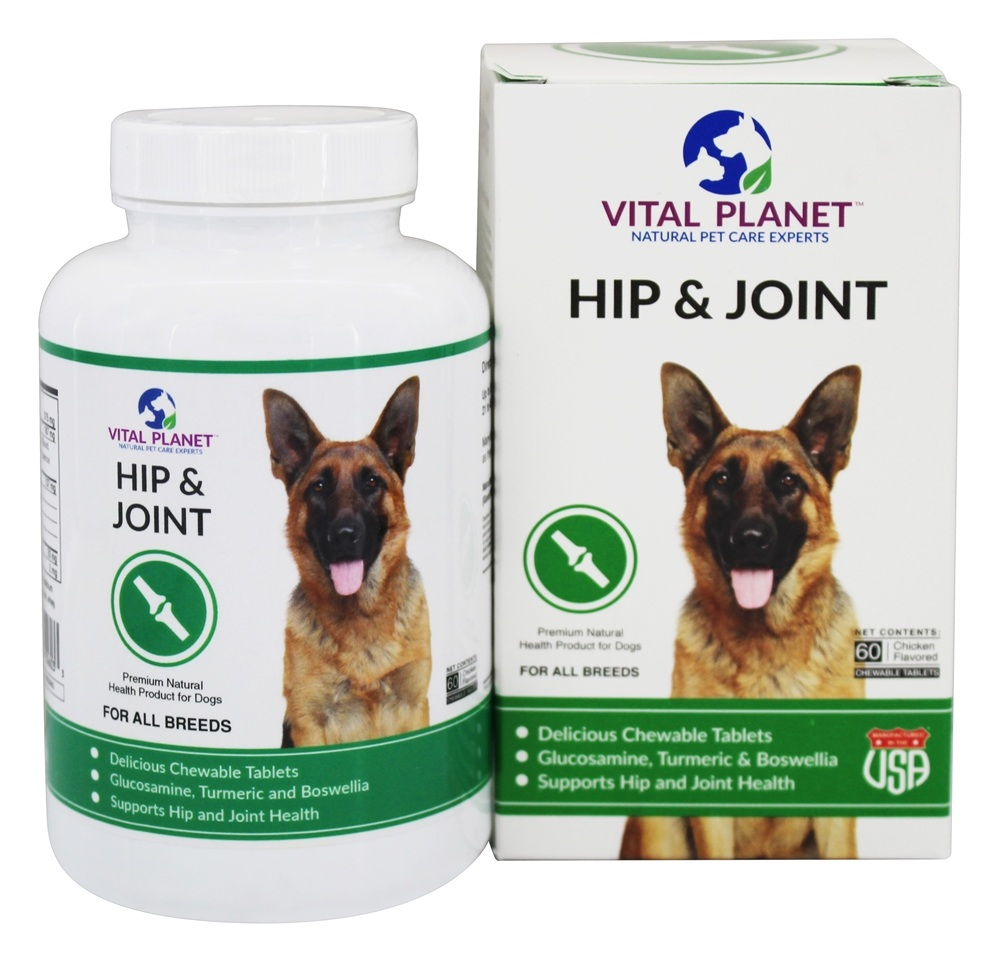 Vital Planet - Hip & Joint with Glucosamine, Turmeric & MSM Chicken Flavor - 60 Chewable Tablets