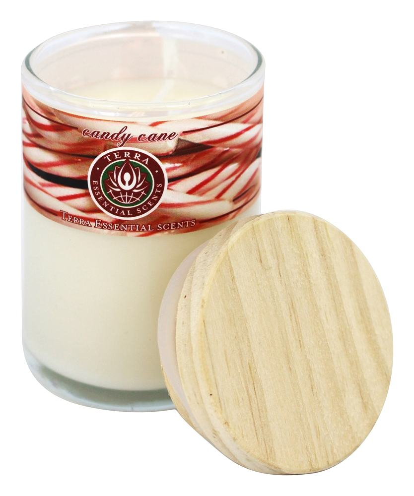 Terra Essential Scents - Seasonal Soy Candles Candy Cane - 2.5 oz.