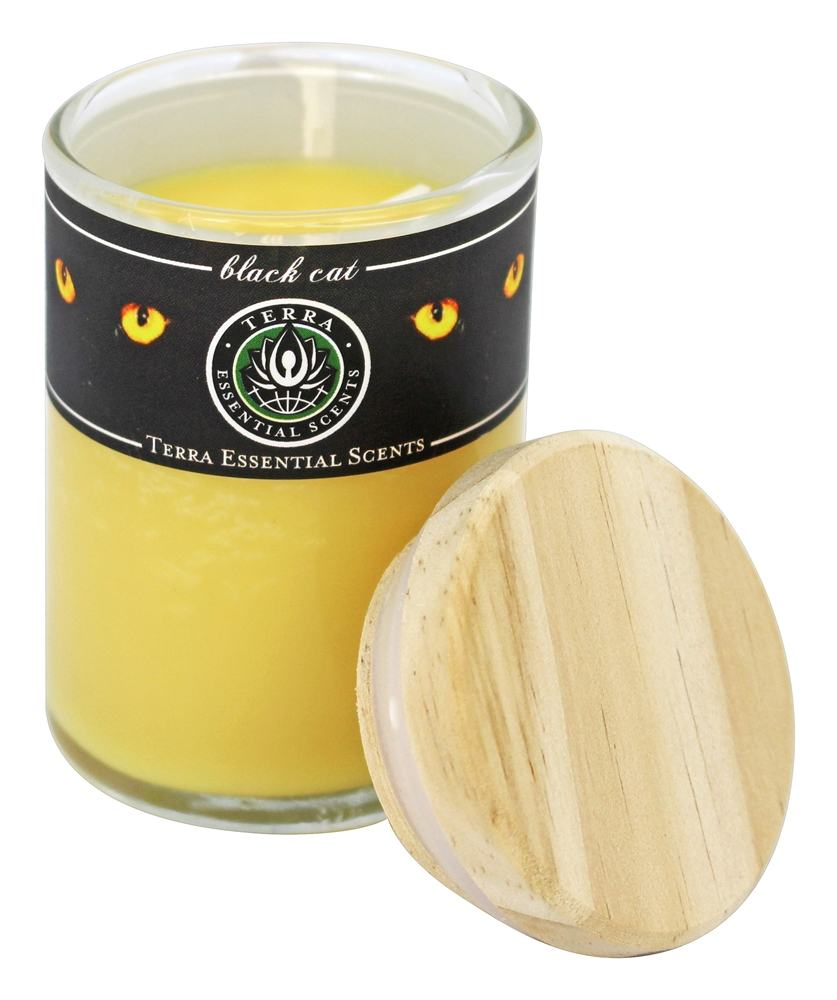 Terra Essential Scents - Seasonal Soy Candle Black Cat - 2.5 oz.