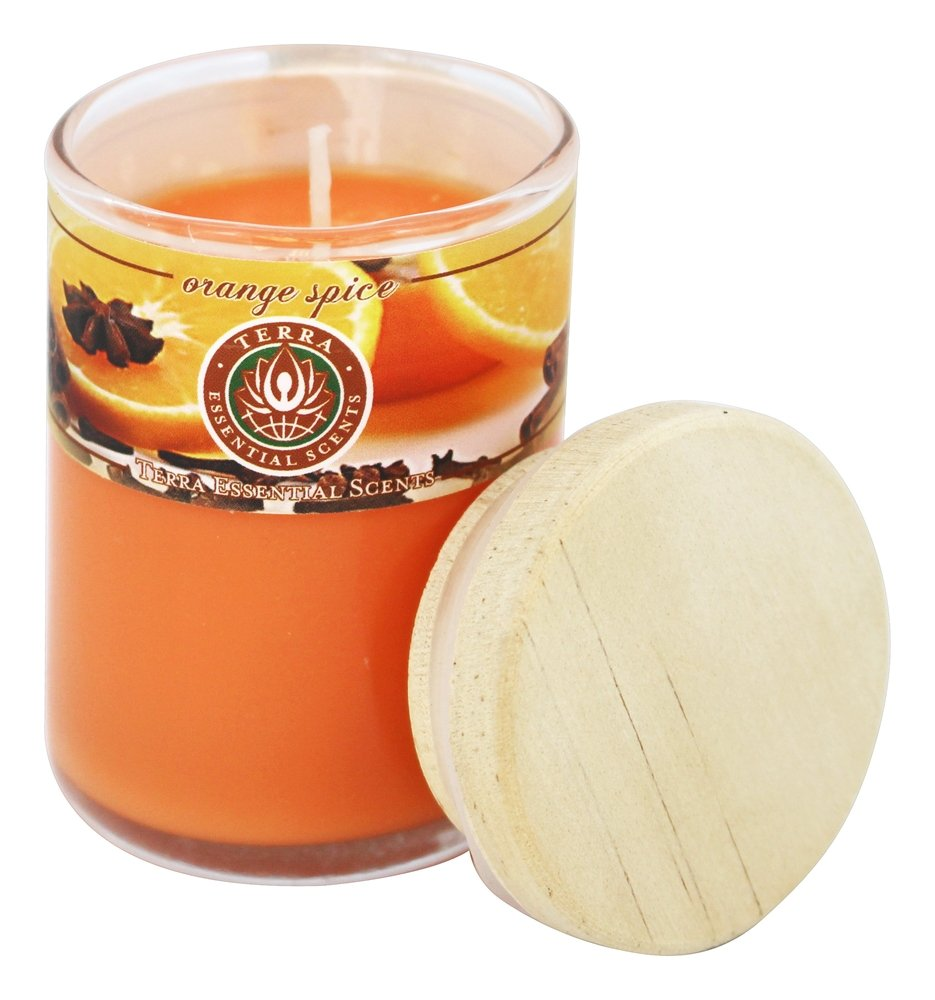 Terra Essential Scents - Seasonal Soy Candles Orange Spice - 2.5 oz.