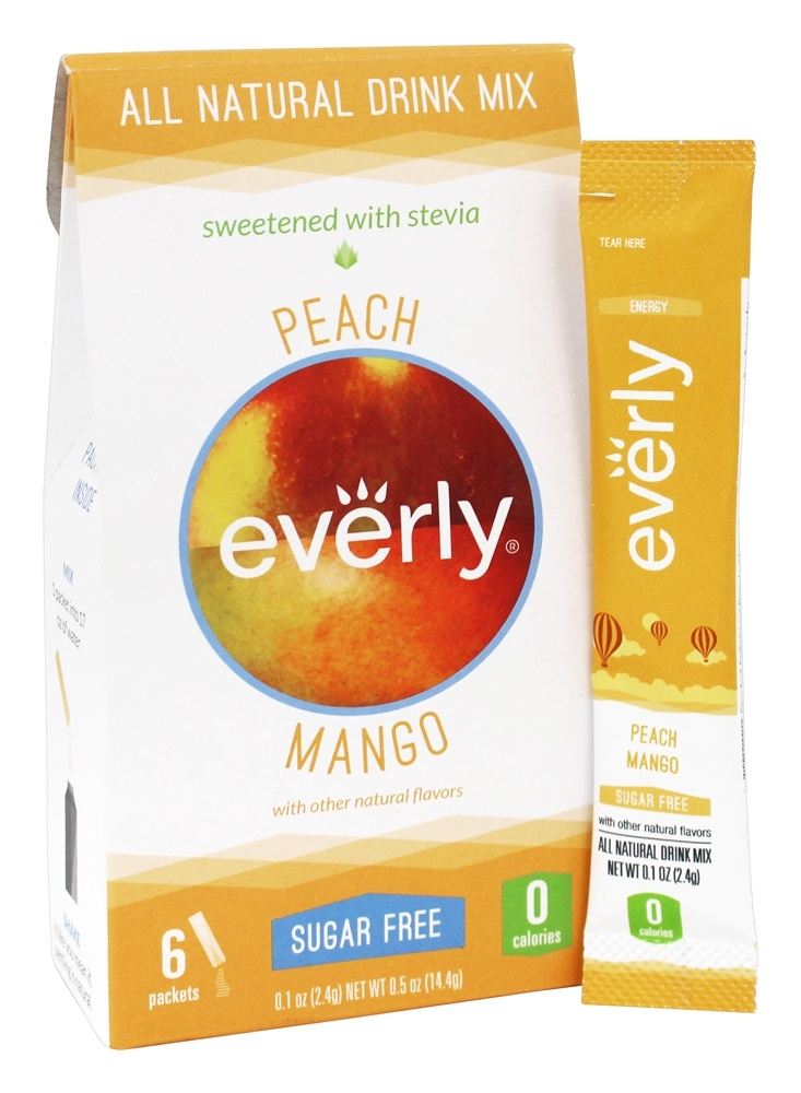Everly - All Natural Sugar Free Drink Mix Peach Mango - 6 Packet(s)