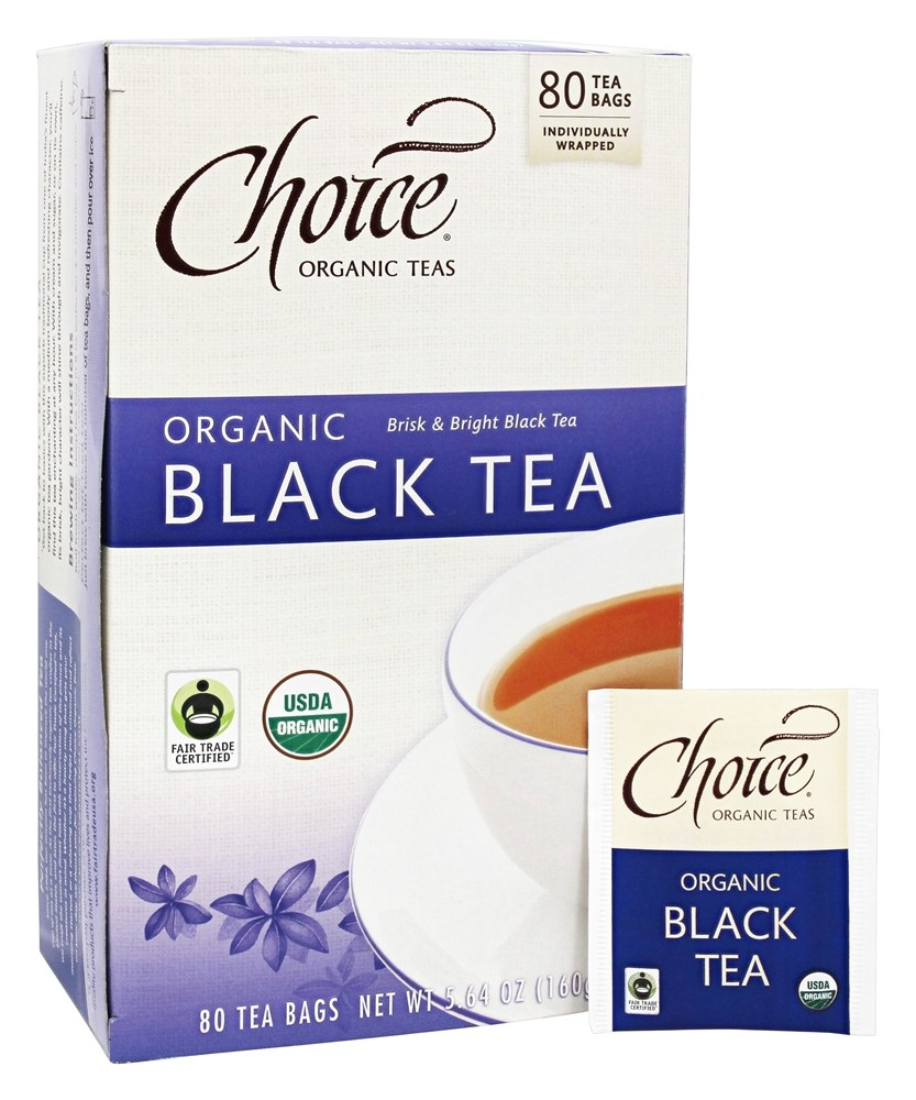 Choice Organic Teas - Organic Black Tea - 80 Tea Bags