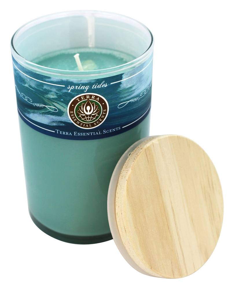 Terra Essential Scents - Seasonal Soy Candle Spring Tides - 12 oz.