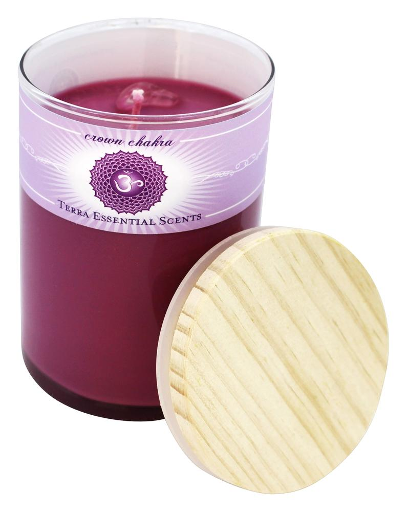 Terra Essential Scents - Crown Chakra Soy Candle - 12 oz.