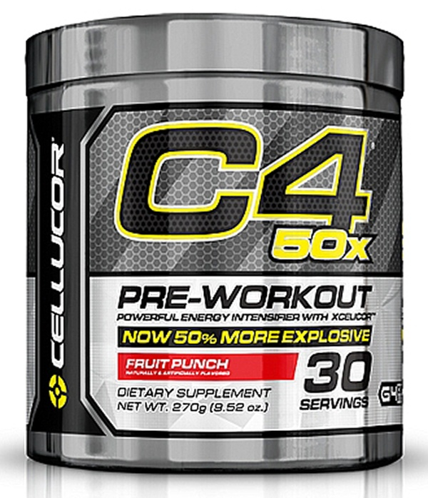 Cellucor - C4 Pre-Workout 50x Powerful Energy Intensifier with XCelicor Fruit Punch 30 Servings - 270 Grams