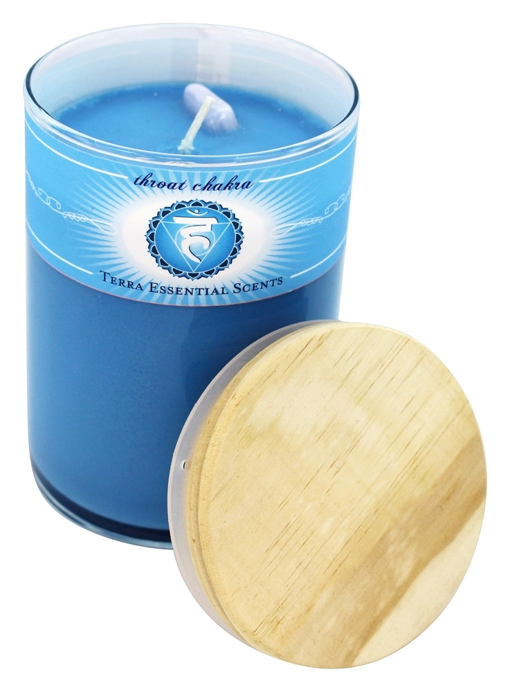 Terra Essential Scents - Throat Chakra Soy Candle - 12 oz.