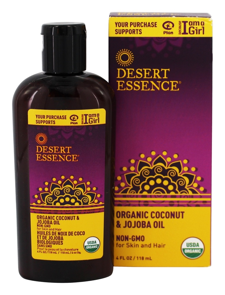 Desert Essence - Organic Coconut & Jojoba Oil - 4 oz. LUCKY PRICE