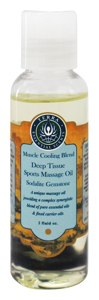 Terra Essential Scents - Massage Oil Deep Tissue Muscle Cooling Blend - 2 oz.