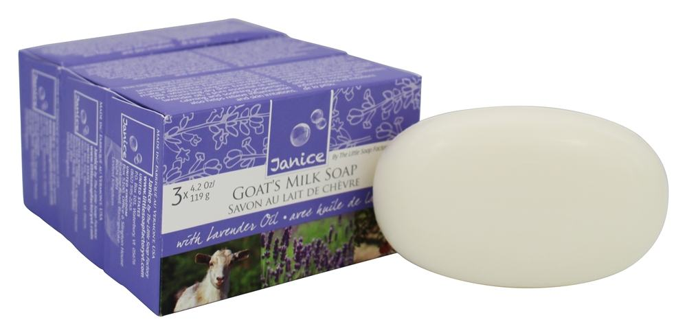 Janice Skincare - Goat's Milk Bar Soap with Lavender Oil - 3 Pack